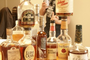A plethora of delicious bourbon (and Tom's anger in the background)